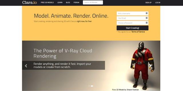 Clara.io animation software free animation software
