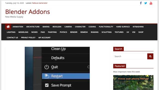 Blender addons website