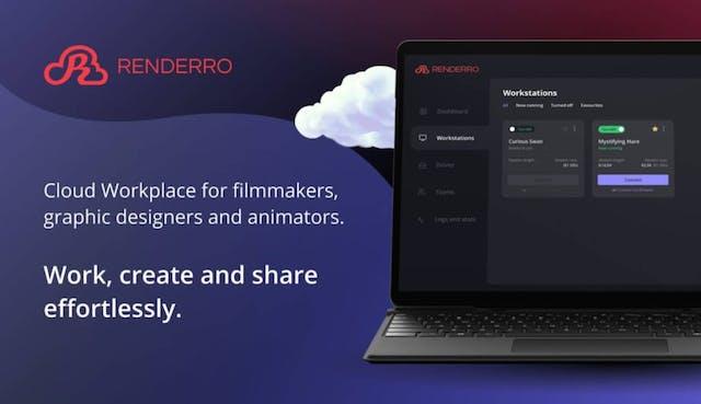 Renderro - cloud workspace for filmmakers, graphic designers and animators
